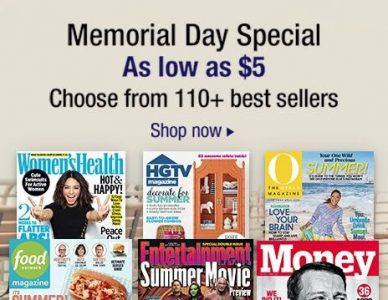 Amazon: 110+ Magazine Subscriptions from $5/Year (Good Housekeeping, Country Living + More)