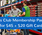 *LAST DAY* Sam's Club Membership + $20 Gift Card + Food Freebies for $45