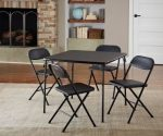 Highly Rated 5-Piece Card Table Set $50 + Free Shipping