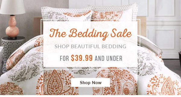 Popular Designer Living Bedding Sale Comforter Sets Duvet Sets and More Under