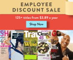 DiscountMags Employee Discount Sale – Lots of Magazines Starting at $4/Year