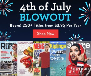 DiscountMags 4th of July Blowout: 250+ Titles from $3.95/Year