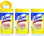 Amazon: Three BIG Tubs of Lysol Disinfecting Wipes for $7 + Free Shipping