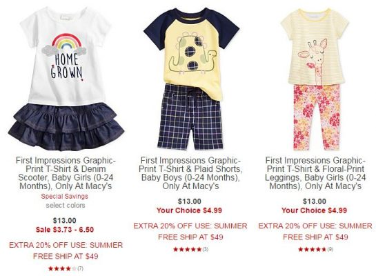 b5960c91c Through Wednesday (6/7), Macys.com is running a sale on baby clothes –  always a great opportunity to restock the gift closet for baby showers!