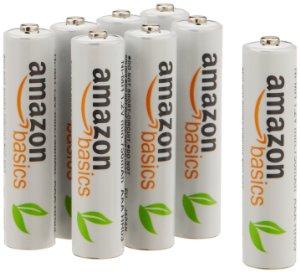 Amazon: AmazonBasics AAA Rechargeable Batteries (8-Pack