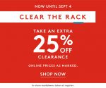 Nordstrom Rack: Labor Day Clear the Rack Sale (Extra 25% Off)