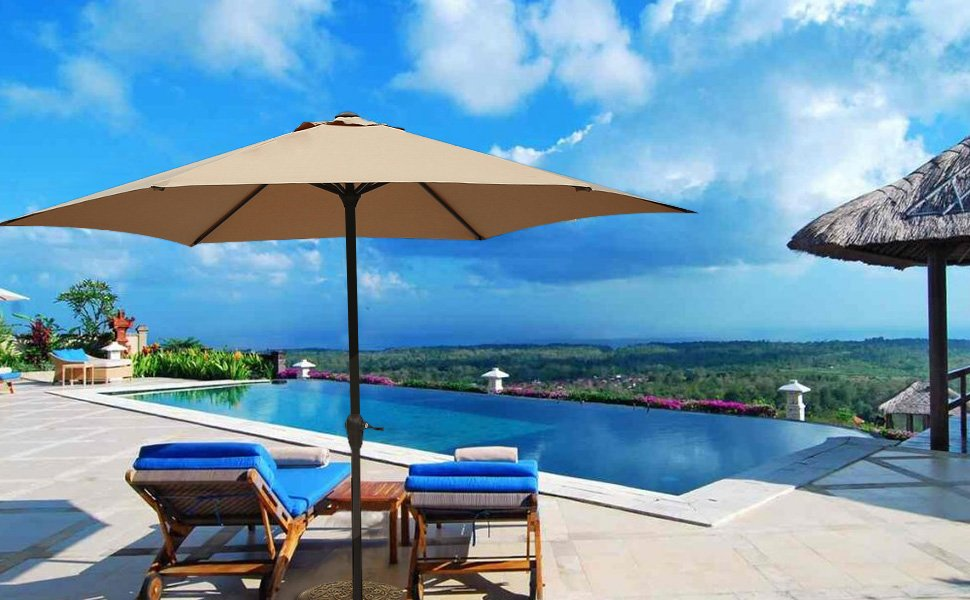 Fabulous If you are looking for an outdoor patio umbrella there is an unbelievable deal on one on Amazon right now for the Le Pappillon Foot Outdoor Umbrella