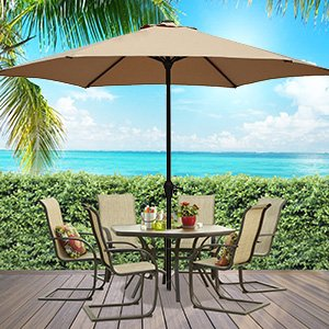 features of the deal include - Amazon Patio Umbrella