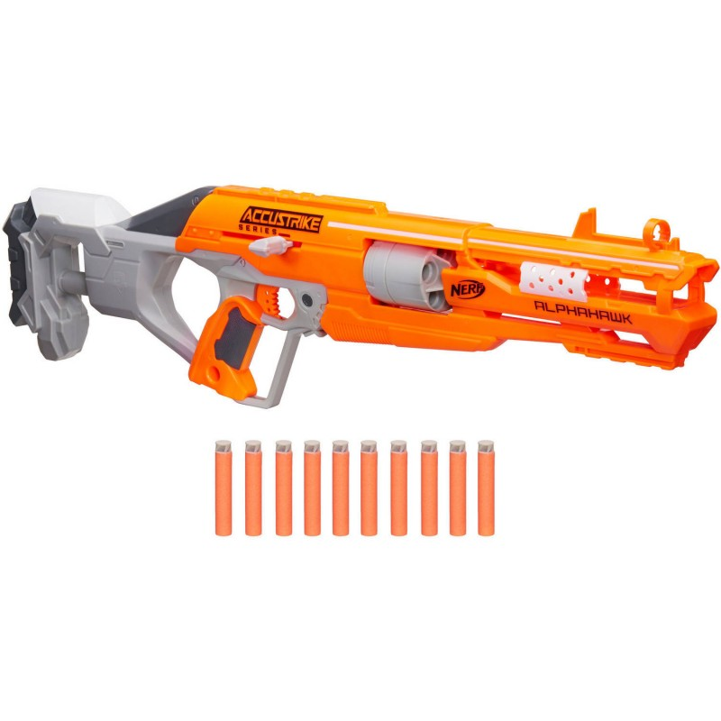 Walmart and Amazon have the Nerf AlphaHawk gun on sale for $18.97 (reg  $29.99). Get free shipping with Amazon Prime or on orders over ...