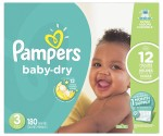 Amazon: Pampers Baby-Dry Diapers for $36.77 + $1.50 Coupon