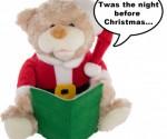 Get in the Christmas Spirit – Christmas Story Reading Santa Bear – $19 (Orig $45)