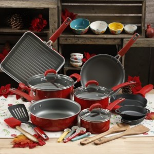 Walmart: Pioneer 30-Piece Cookware Set (HALF OFF Red Set!) $94.00