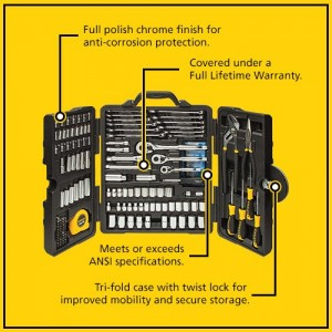 Amazon: Stanley Mixed Tool Set (170 Piece) for Only $69.99 (Reg. $109)