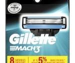 Amazon: Gillette Mach3 Men's Razor Blade Refills, 8 Count for $14.36 PLUS $3 Coupon