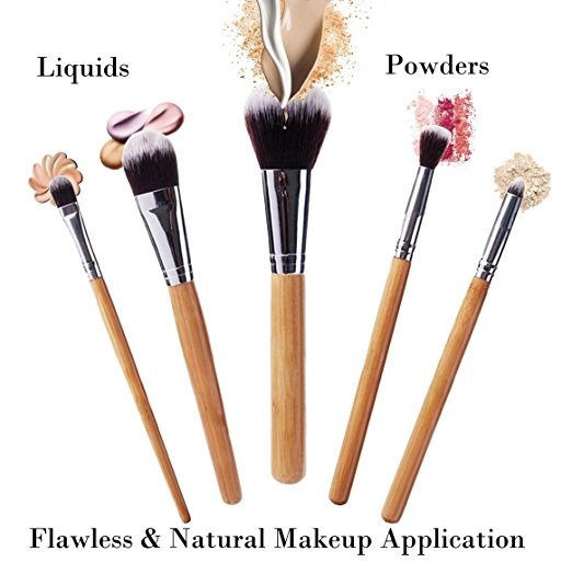 2140292936f6 Amazon: BEAKEY Makeup Brush Set Bamboo Handle Now ONLY $9.34 (Reg ...