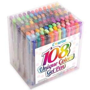 Amazon: Courise 108 Unique Colors Gel Pen Set For Coloring Only $14.29 (Reg. $49.99)