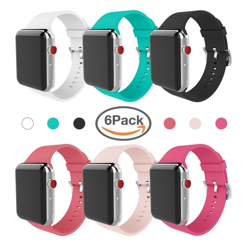 Looking to change up your Apple watch band!  Amazon now has a great deal on  MITERV Apple Watch Band 38mm 42mm Soft Silicone Replacement Band – 6 Pack  for ... e36f02788