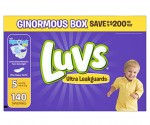 Amazon Deal of the Day: Luvs Ultra Leakguards Disposable Diapers Size 5, 140 Count for only $21.54! (ONE MONTH SUPPLY)