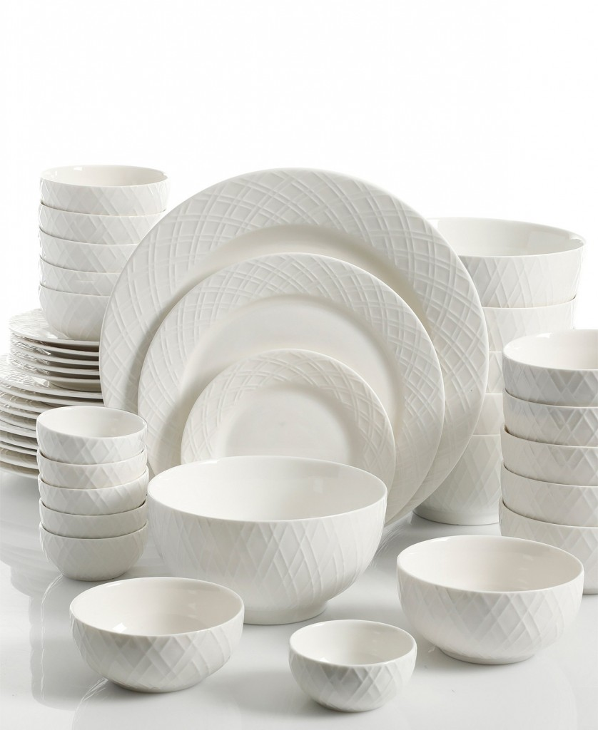 The Gibson White Elements Lexington 42-Pieces Dinnerware Set is on sale for only $39.99 (normally $120) at Macy\u0027s for a limited time.  sc 1 st  Pocket Your Dollars & Macy\u0027s: Gibson 42-Pieces Dinnerware Set Only $39.99 (Reg. $120)