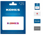 Select Gift Cards: Macy's, Kohl's & More: Buy One, Get One 20% Off + Free Shipping