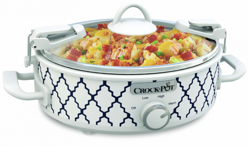 Amazon portable 6 quart crock pot lowest price for Hamilton beach pioneer woman slow cooker