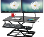 Amazon: Preassembled Height Adjustable Desk Sit/Stand Elevating Desktop $88.79 (Lowest Price!)