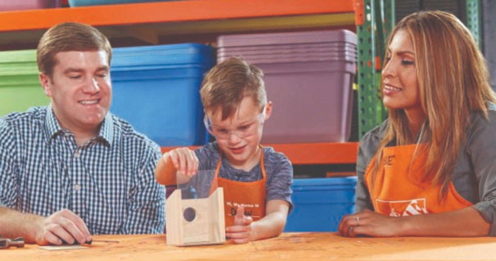 Home depot kids workshop register now to build free for Window zipper home depot
