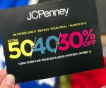 JCPenney Mystery Coupon Giveaway: Up To 50% Off Your Entire Purchase (March 9th-11th)