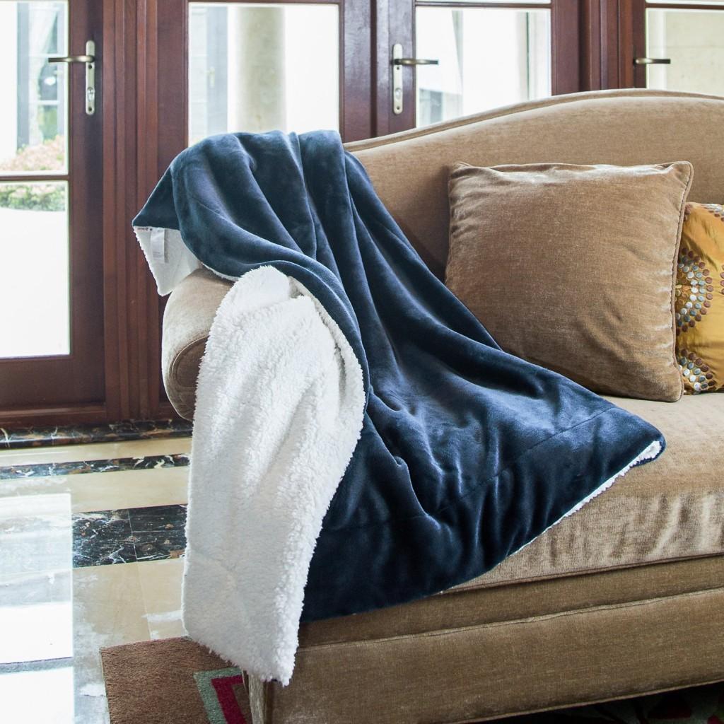 Amazon Bedsure Sherpa Throw Blankets Starting At 15 39