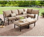 Walmart: Mainstays Sandhill 7-Piece Outdoor Sofa Sectional Set Now $379 (Reg. $596)