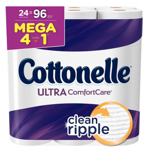 Amazon: Cottonelle Ultra ComfortCare Toilet Paper (36 Family Rolls) Only $0.50 Per Roll & More