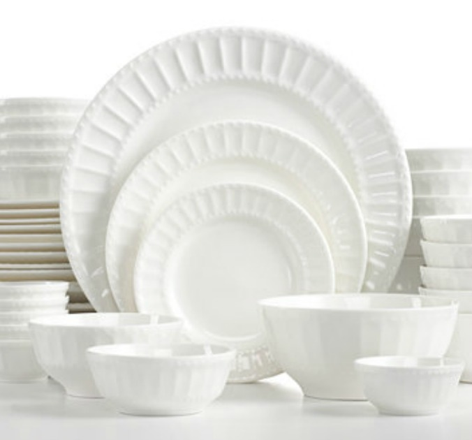 Gibson White Elements Paloma Embossed 42-Piece Dinnerware Set Only $37.99 (regularly $120)  sc 1 st  Pocket Your Dollars & Macy\u0027s: Gibson 42 Piece Dinnerware Set Only $37.99 (Regularly $120 ...
