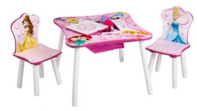 Walmart: Disney Princess Storage Table and Chairs Set Now $39.99! (Reg. $75)