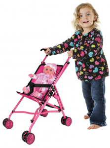 Amazon: Hot Pink Umbrella Doll Stroller Just $12.59 (Reg. $38.65)