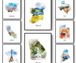 Jane.com: Watercolor Map Prints (3 Sizes) for $3.49!