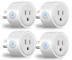 Amazon: Wi-Fi Smart Plug, Mini Outlets Smart Socket (4 Pack) Just $39.94 (Awesome Reviews)