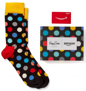 Amazon: FREE Happy Socks w/ $100 Amazon Gift Card Purchase (Think Father's Day!)