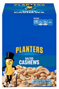 Amazon: Planters Single-Serve Cashews, Salted (18 Pack) Only $9.88