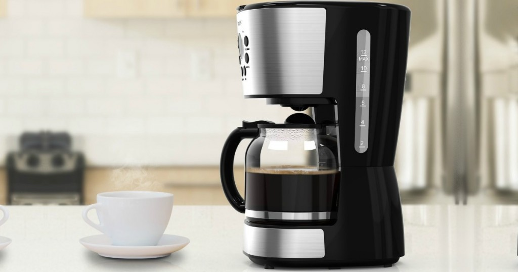 Amazon Homgeek Stainless Steel 12 Cup Coffee Maker Only 2299 Shipped