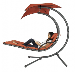 Amazon: Hanging Chaise Lounge Swing with Canopy Just $139.49 (Lowest Price)