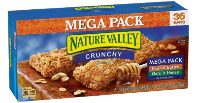 Amazon: Nature Valley Crunchy Granola Bars 36-Pack Only $4.89 (Ships w/ $25 Amazon Order)