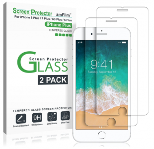 Amazon: 2-Pack Tempered Glass Screen Protector for Apple iPhone 8, 7, 6S, 6 ONLY $7.99