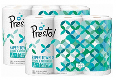 Amazon: Presto! Paper Towels (12 ct) Only 65¢/Roll Shipped!