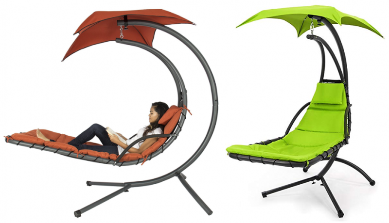 Amazon: Hanging Chaise Lounge Swing with Canopy Just $139.49 (Lowest on chaise furniture, chaise sofa sleeper, chaise recliner chair,