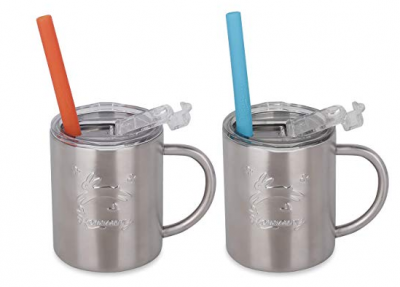 Amazon: Housavvy Rabbit Stainless Steel Kids Cups w/ Lids & Straws (2-Pack) Just $12.59 (Awesome Reviews)
