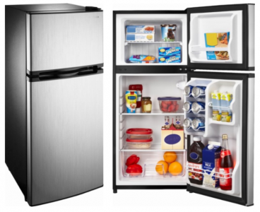 Best Buy: Insignia 4.3 Cu. Ft. Top-Freezer Refrigerator Only $160 (Stainless Steel)