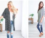 Jane.com: Super Cute Striped Bell Sleeve Cardigan Just $24.99! (4 Colors)