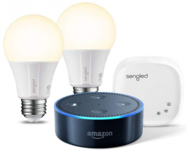 Amazon: Echo Dot + 2 Smart Bulb Kit Just $59.99 (Reg. $90) – Best Price!