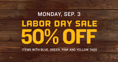 Goodwill Labor Day Sale (9/3 From 9 AM-6 PM)