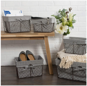 Amazon: Vintage Nesting Storage Baskets (5 Set) Only $37.99! (Reg. $61.99)